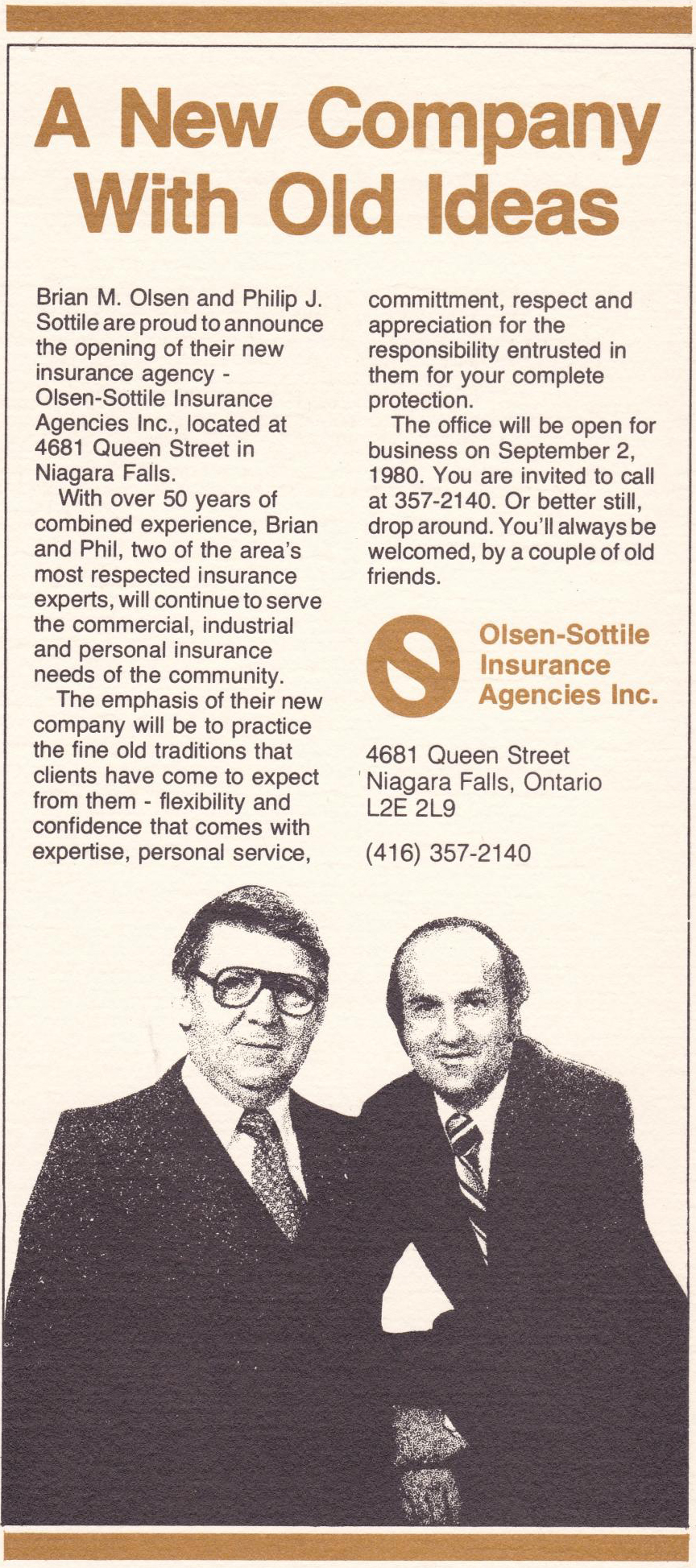 Olsen-Sottile, Your Niagara Insurance Brokers